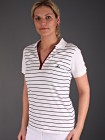 Backtee Striped Polo Lady